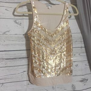 Express Sequin Tank Top